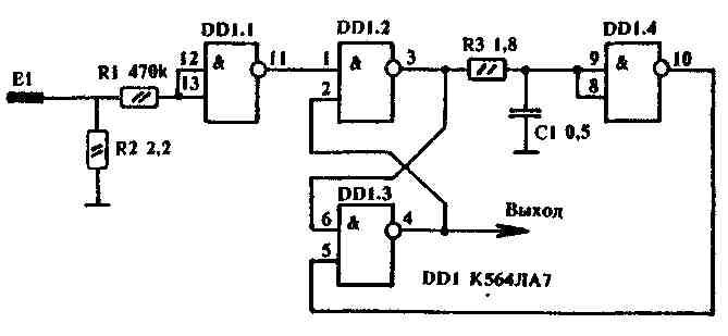 При конструировании сенсорных переключателей обычно сенсорные ячейки делают с зависимым переключением.