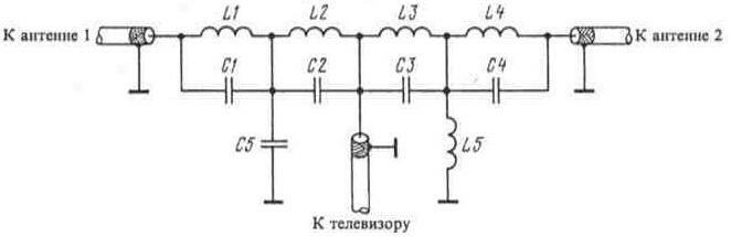 1. показана схема фильтра