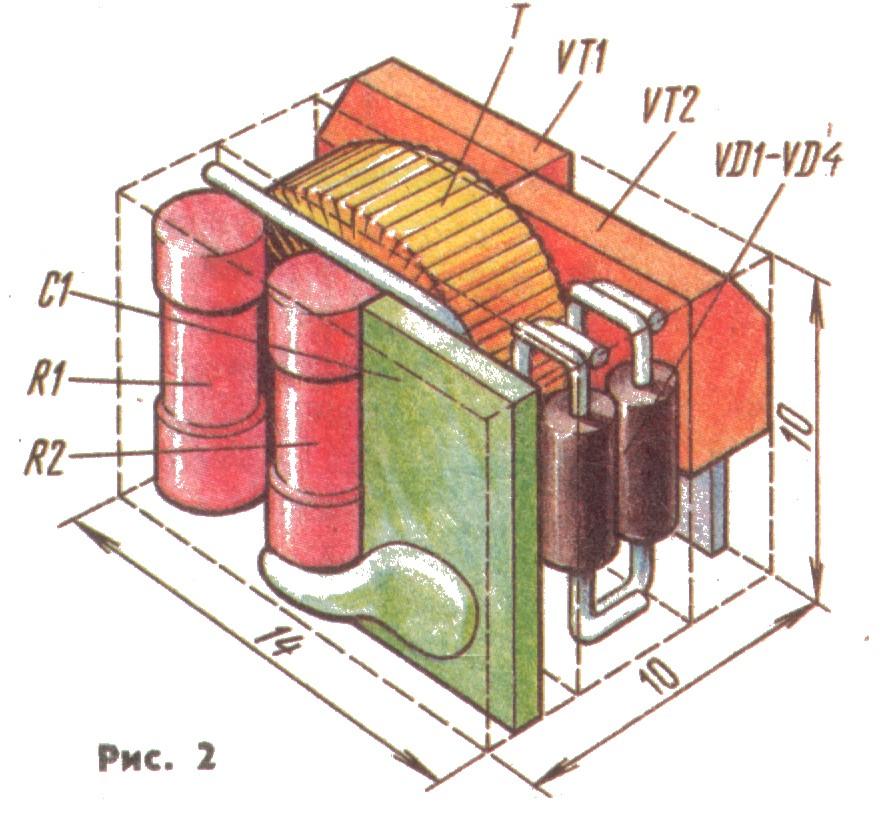 схема преобразователя напряжения 9 вольт 100 вольт - Микросхемы.